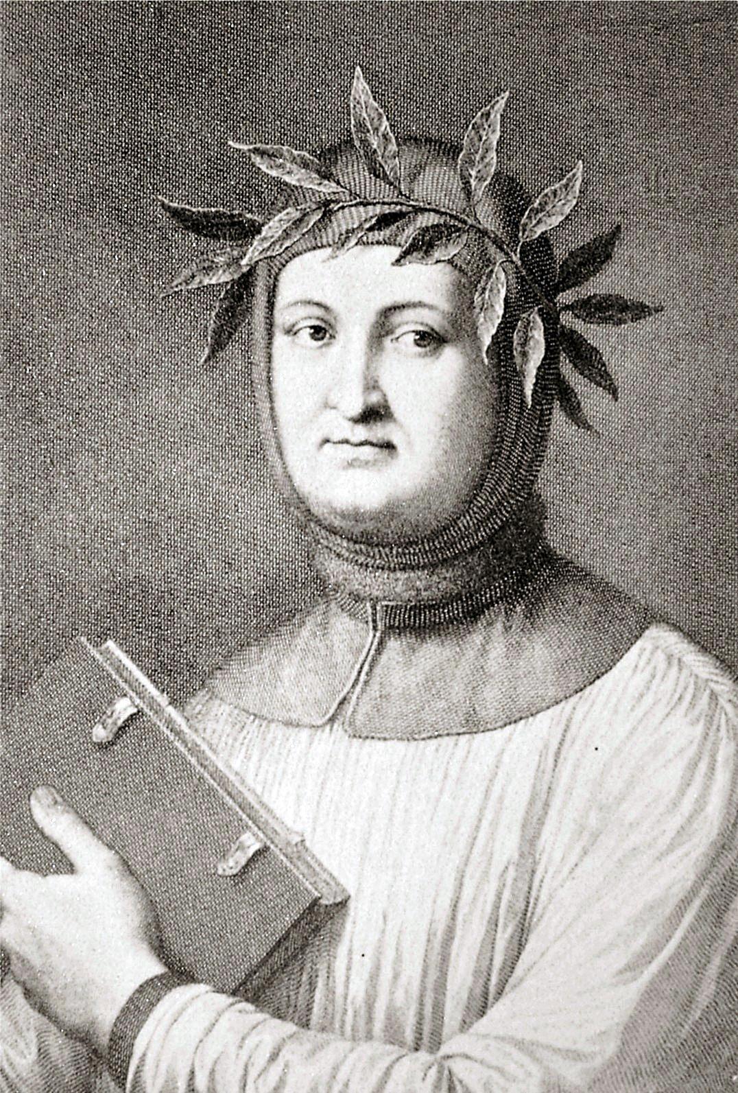 Il ritratto di Francesco Petrarca in una incisione del 1822.