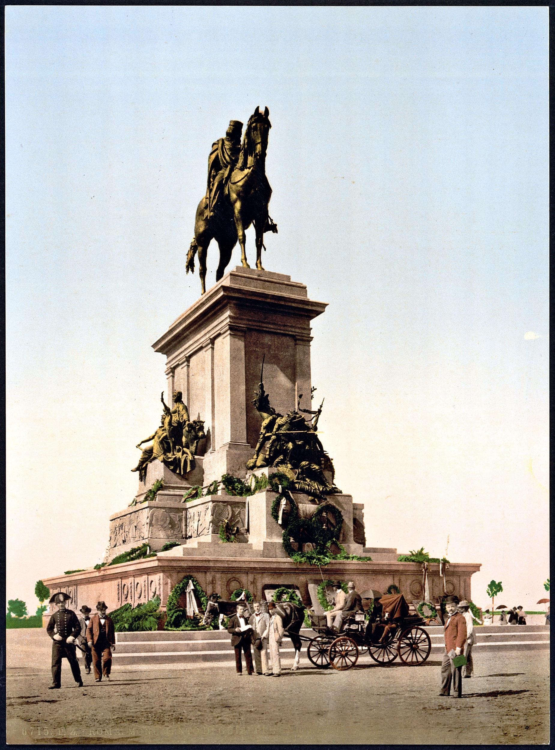 Il Monumento nazionale a Giuseppe Garibaldi. Roma, piazzale del Gianicolo.