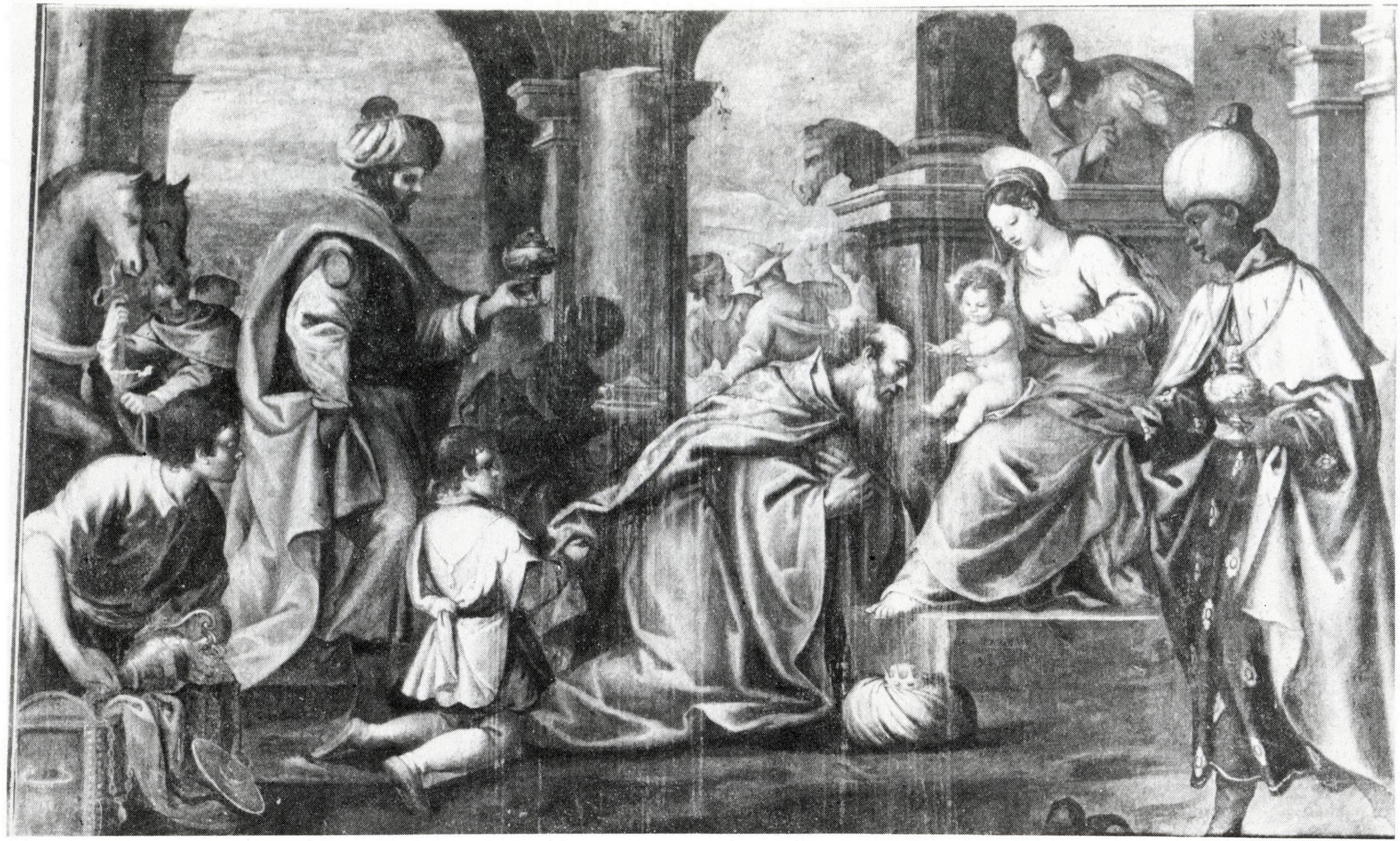 Carlo Ridolfi, L'adorazione dei Magi, vecchia chiesa di San Giacomo, Battaglia Terme.