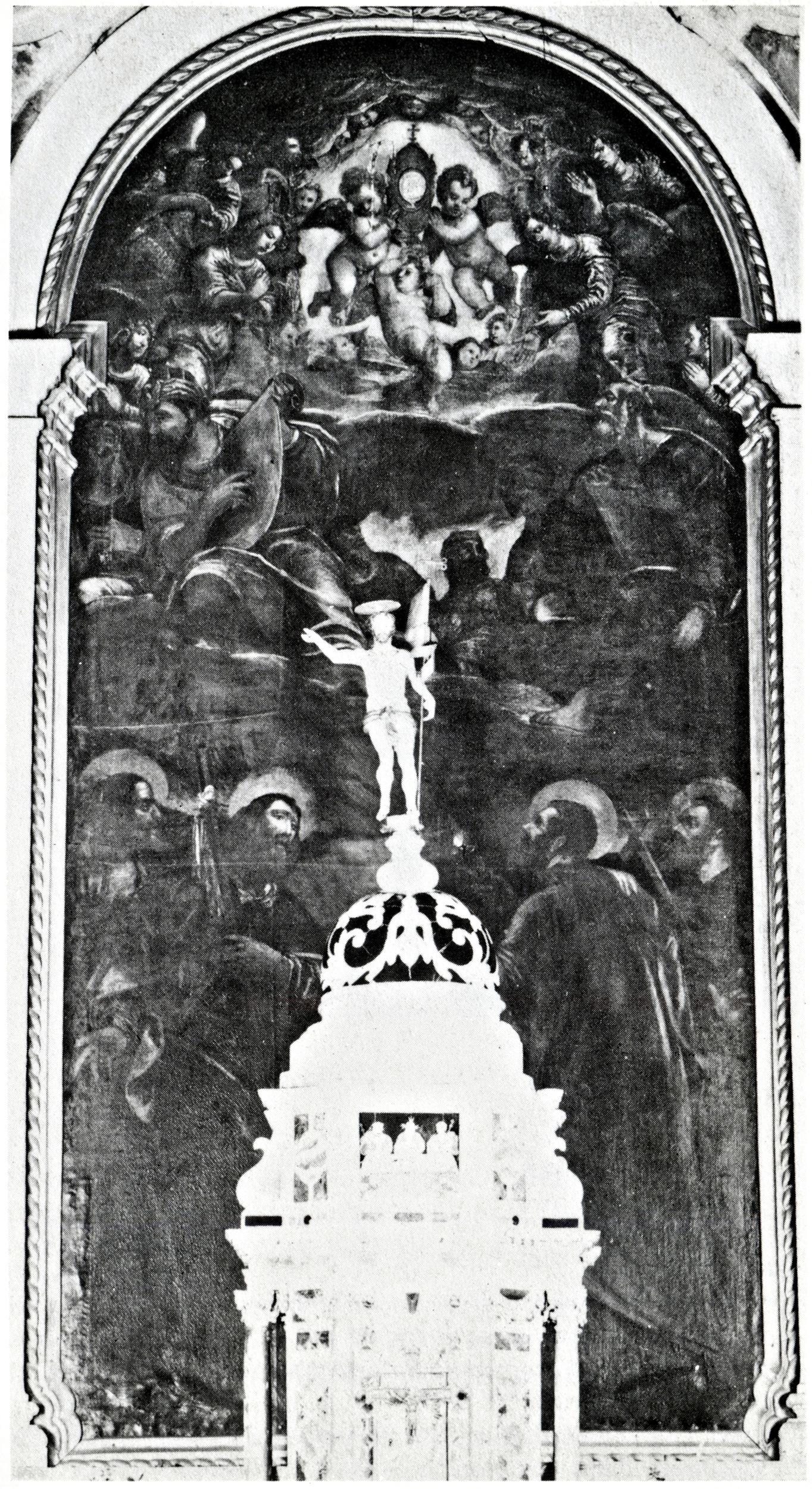 La SS. Eucarestia con i Padri della Chiesa e quattro santi, vecchia chiesa di San Giacomo, Battaglia Terme.