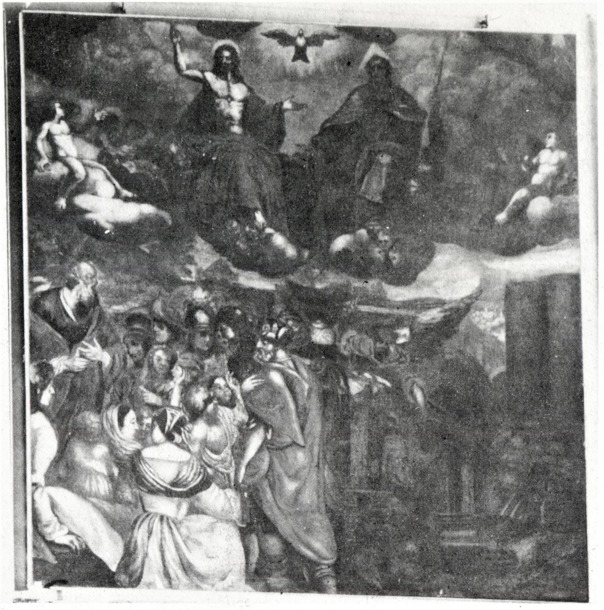 La Trinità e un episodio biblico (?), vecchia chiesa di San Giacomo, Battaglia Terme.