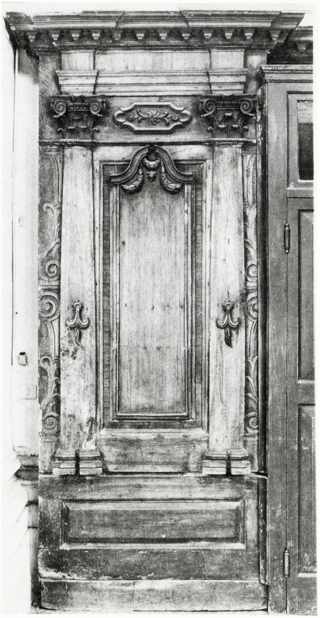 Sezione di coro, vecchia chiesa di San Giacomo, Battaglia Terme.