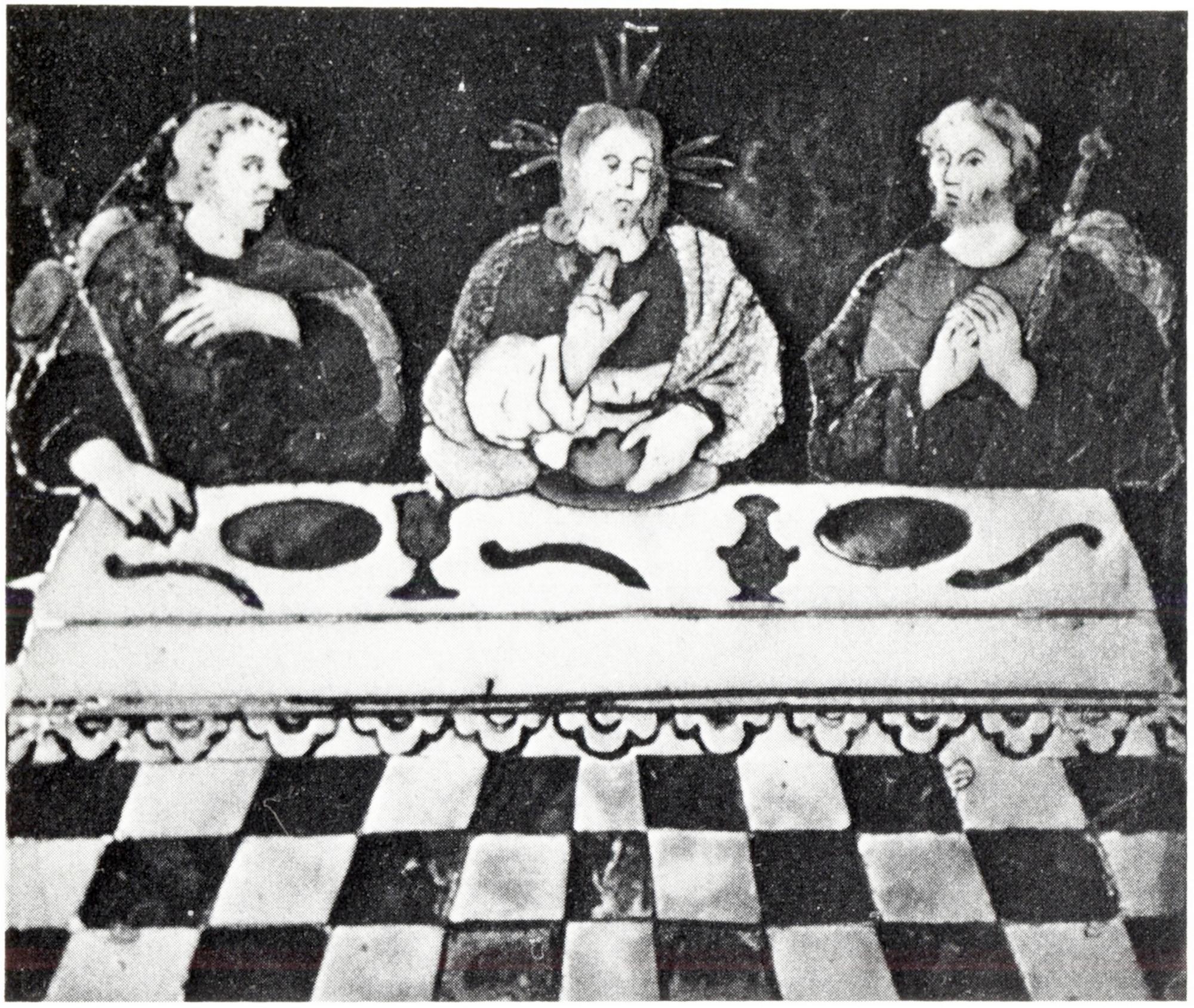 Cena in Emmaus, tabernacolo, vecchia chiesa di San Giacomo, Battaglia Terme.