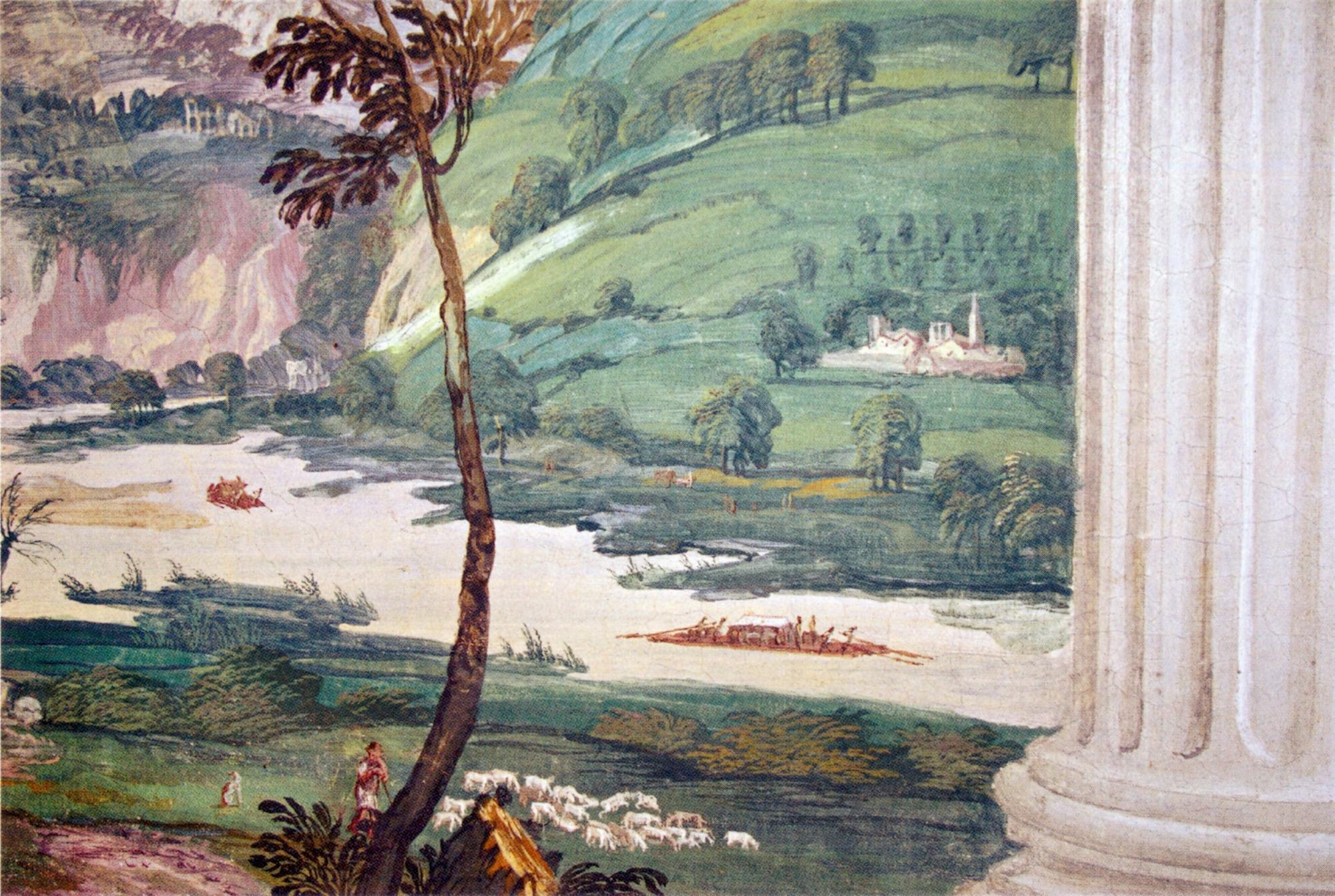 Paolo Veronese, Capriccio fluviale, 1560-61, affresco. Villa Barbaro, Maser (TV).