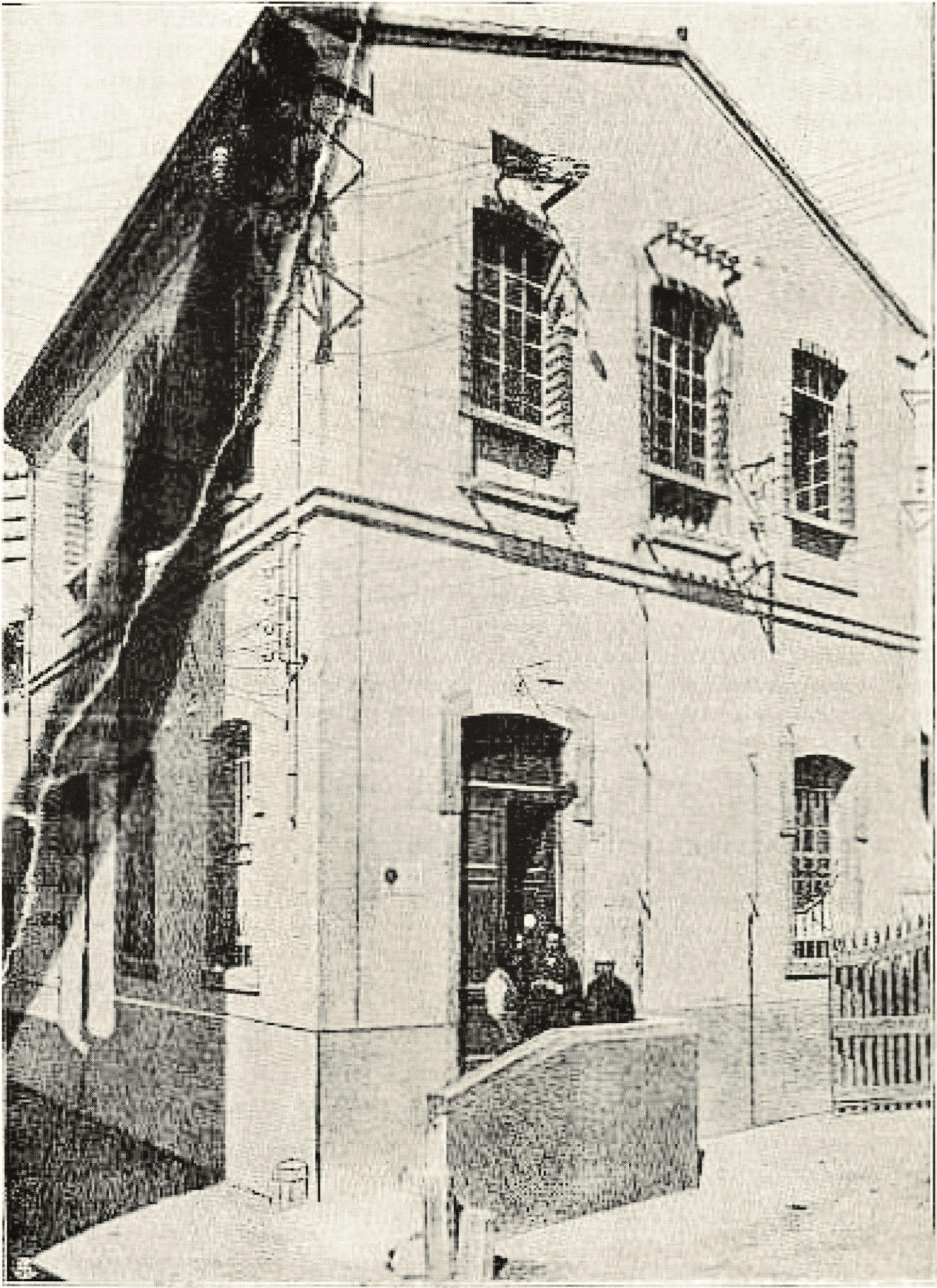La cabina elettrica della SADE in una foto degli anni '20.
