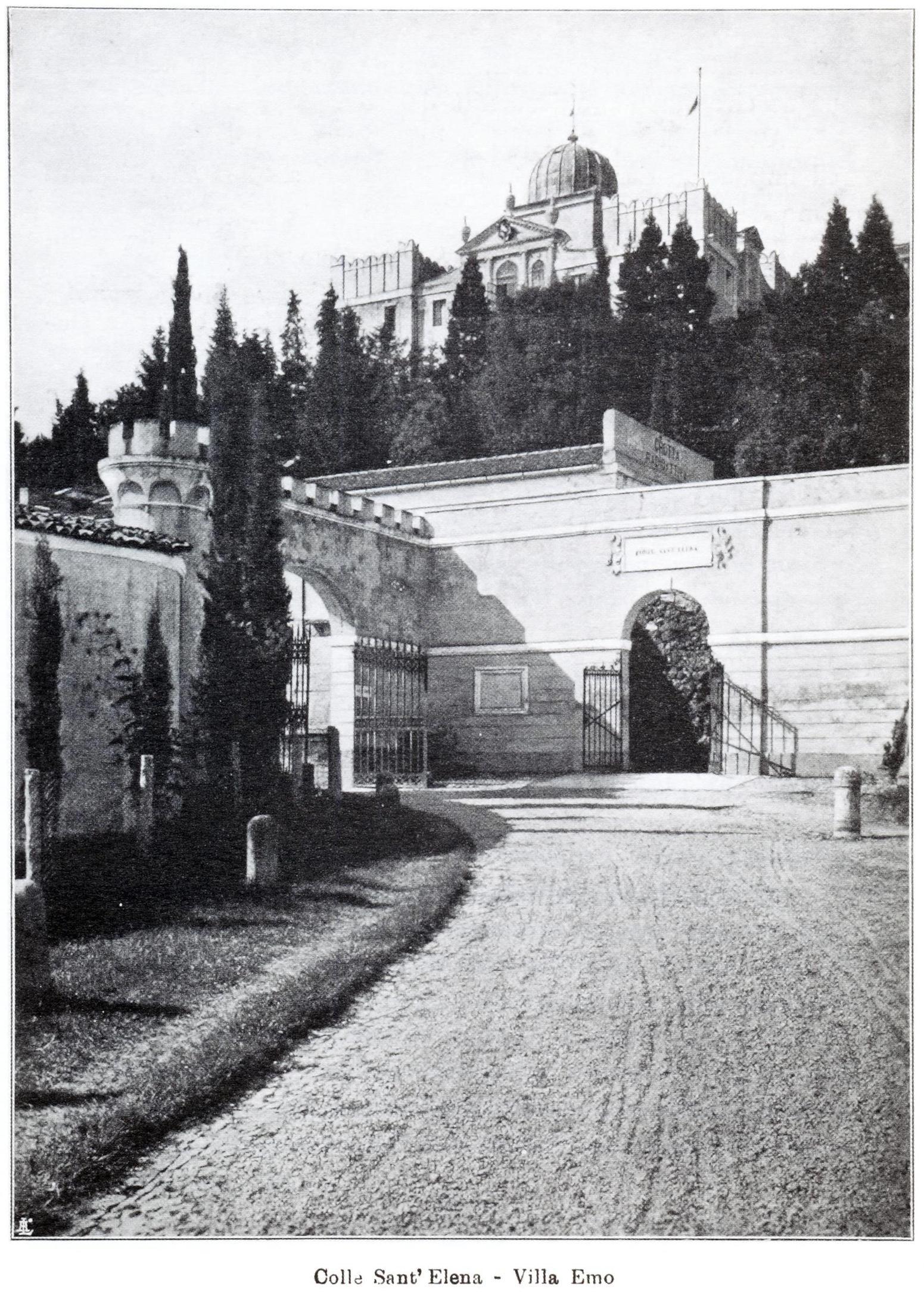 Il Colle di Sant'Elena con, sulla sommità, la Villa Emo.