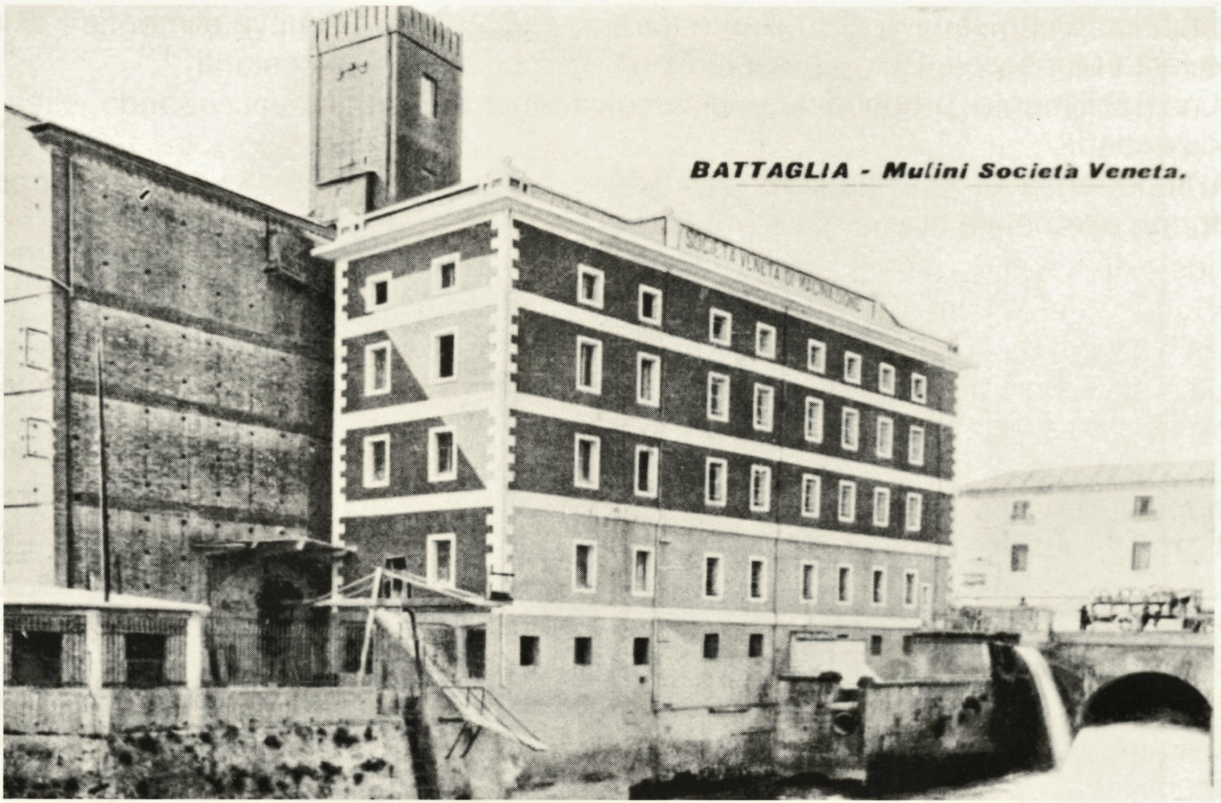 Il Mulino della Società Veneta di Macinazione in una cartolina degli anni '30.