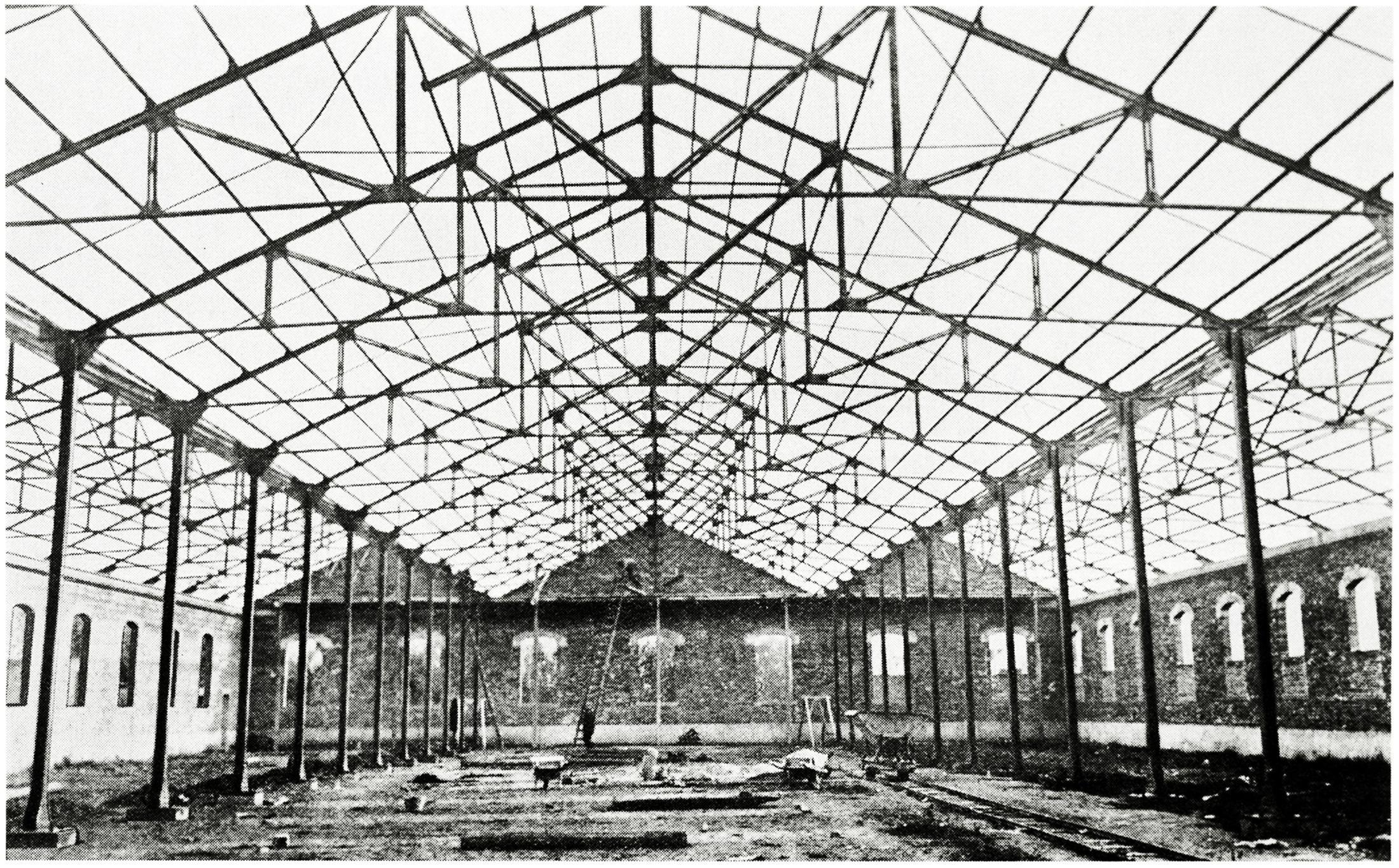 Capriate per un fabbricato industriale a Rosignano Solvay - Livorno.