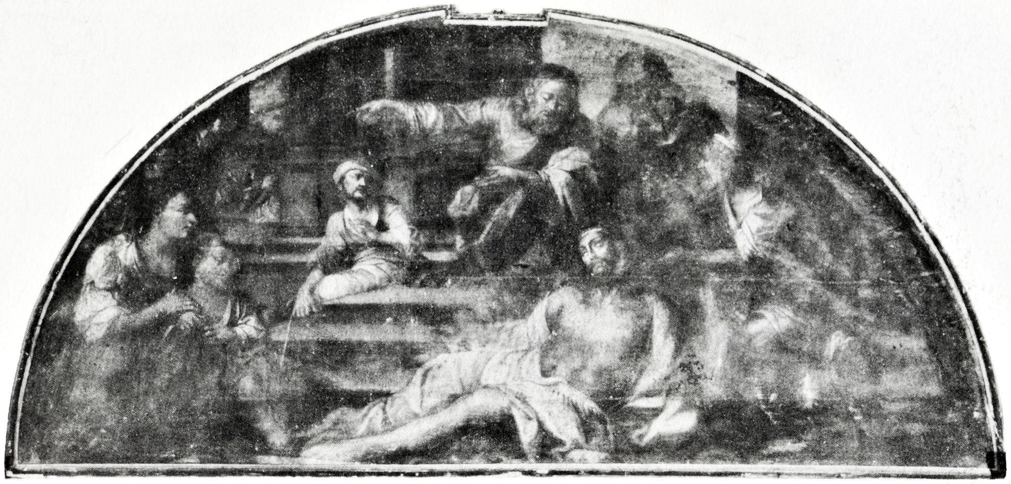 Cristo e il povero Lazzaro, vecchia chiesa di S. Giacomo, Battaglia Terme.