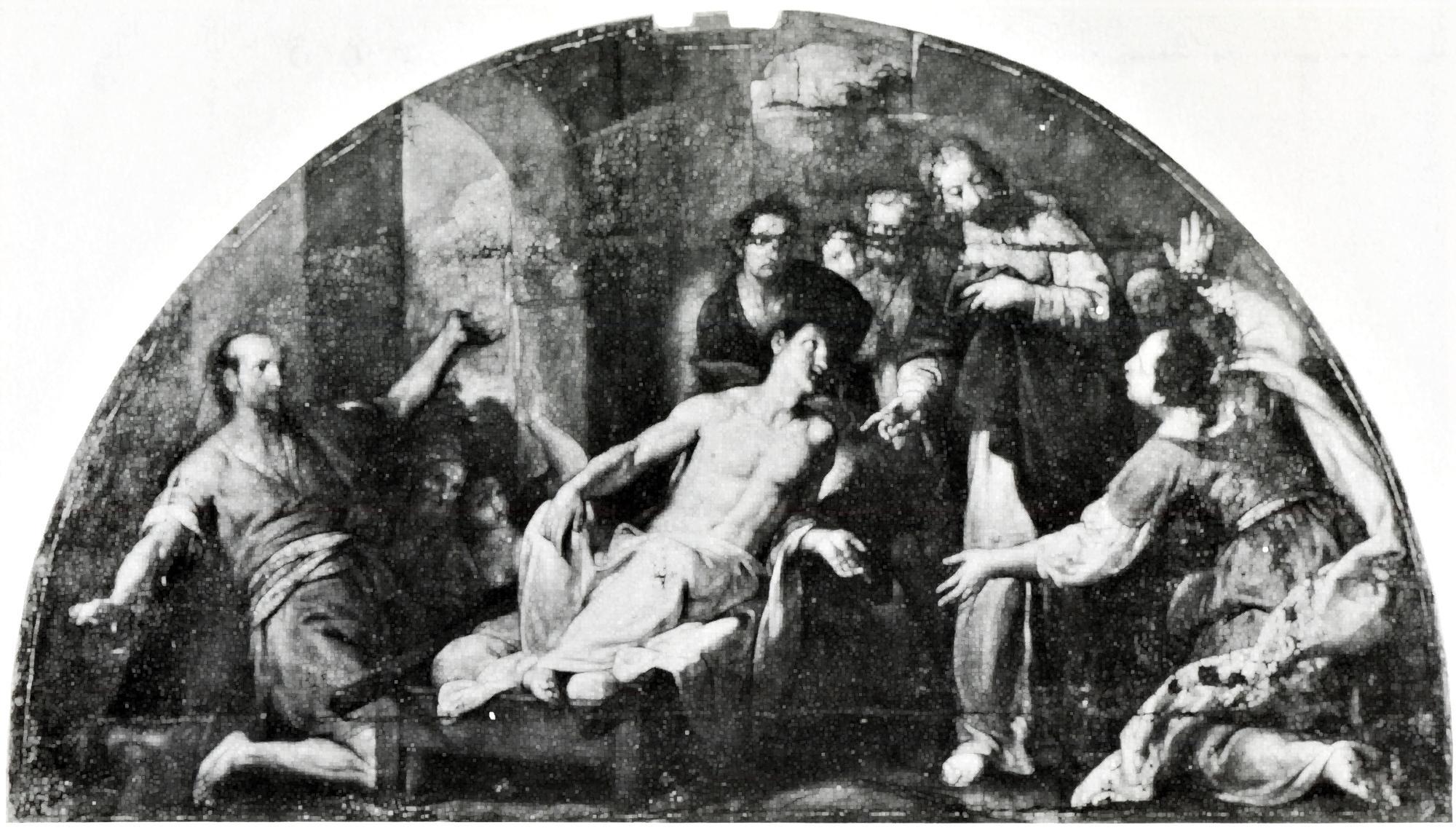 Il miracolo del figlio della vedova, vecchia chiesa di S. Giacomo, Battaglia Terme.
