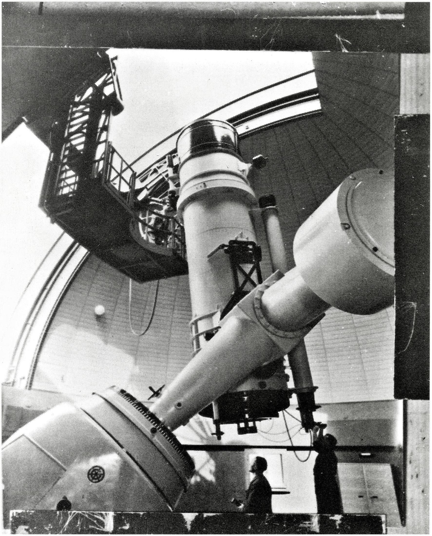 Osservatorio astronomico di Asiago. Riflettore da 120 cm. Costruzione Off. Galileo Firenze.