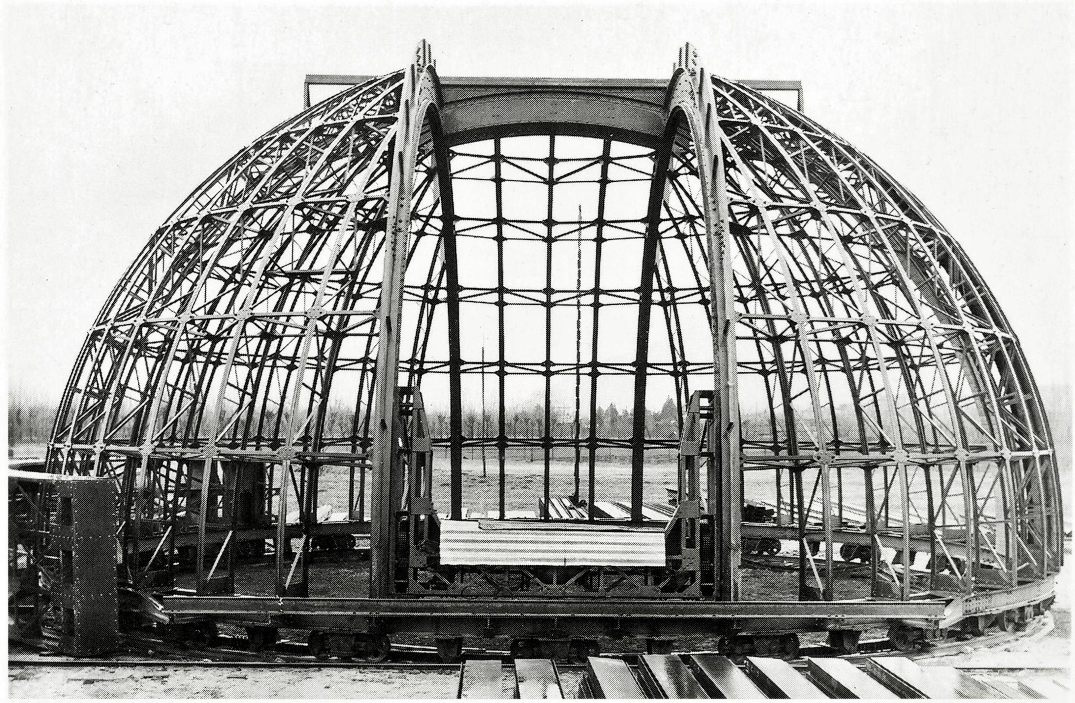 Osservatorio astronomico di Asiago. Struttura cupola girevole. Costruzione Off. Galileo - Battaglia.