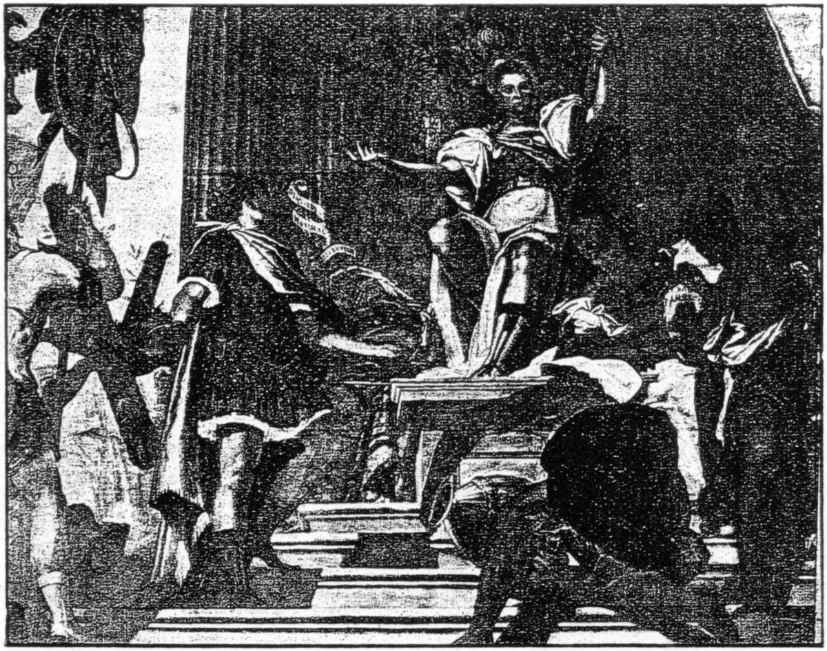 Veronese (attribuito), La Repubblica Romana e la causa della sua decadenza e rovina, Castello del Catajo, Battaglia Terme.