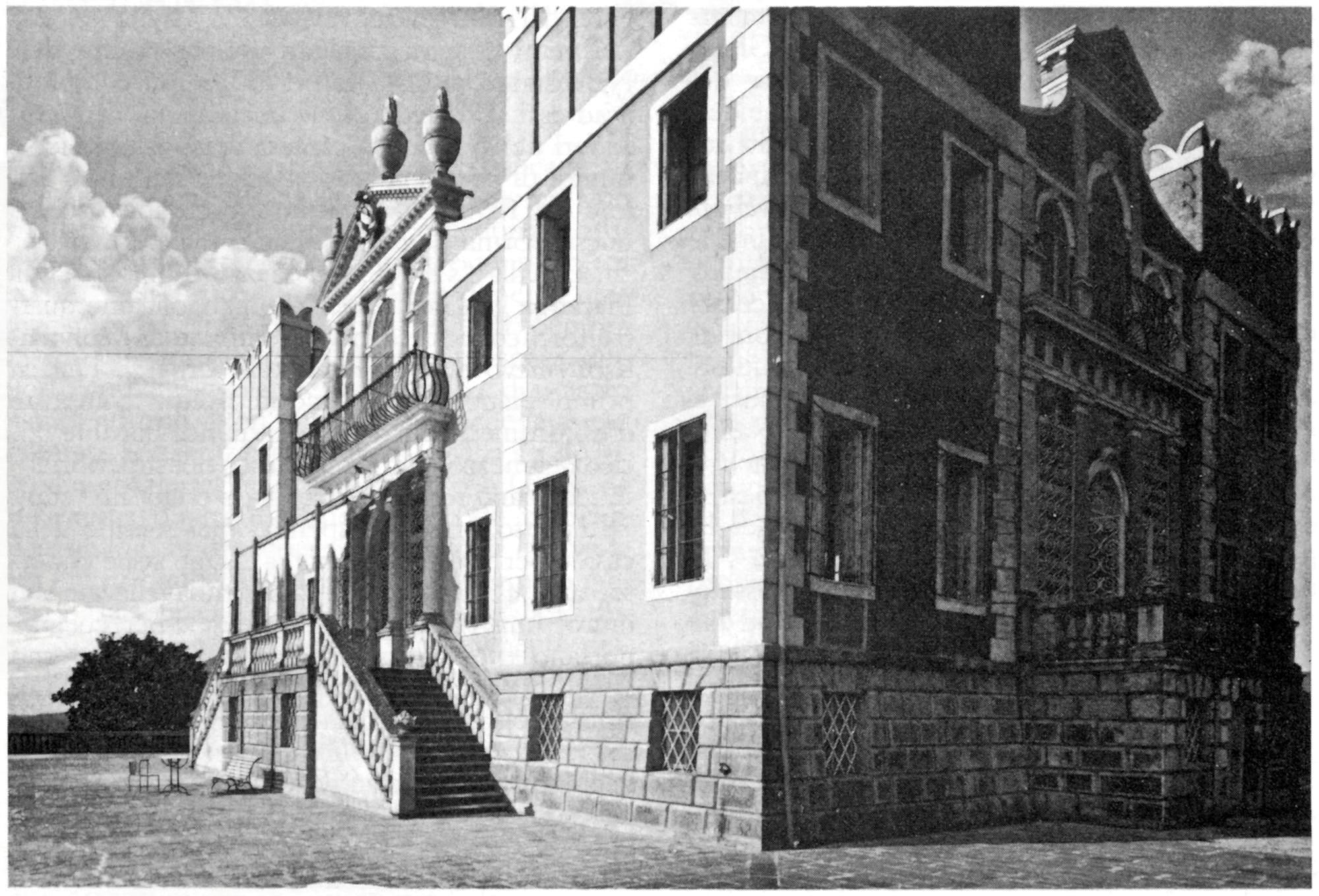La villa Emo, ex Selvatico, in una foto degli anni '20 del secolo scorso.