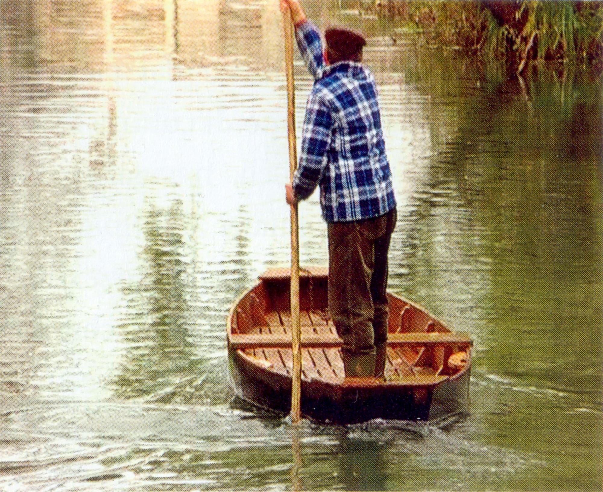 La pantana è un'imbarcazione che permette di navigare dove l'acqua è poco profonda.