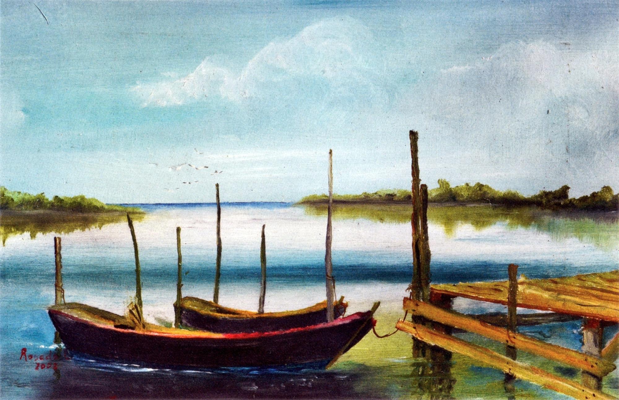 L'acqua è il principale soggetto delle opere di Luciano Rosada.