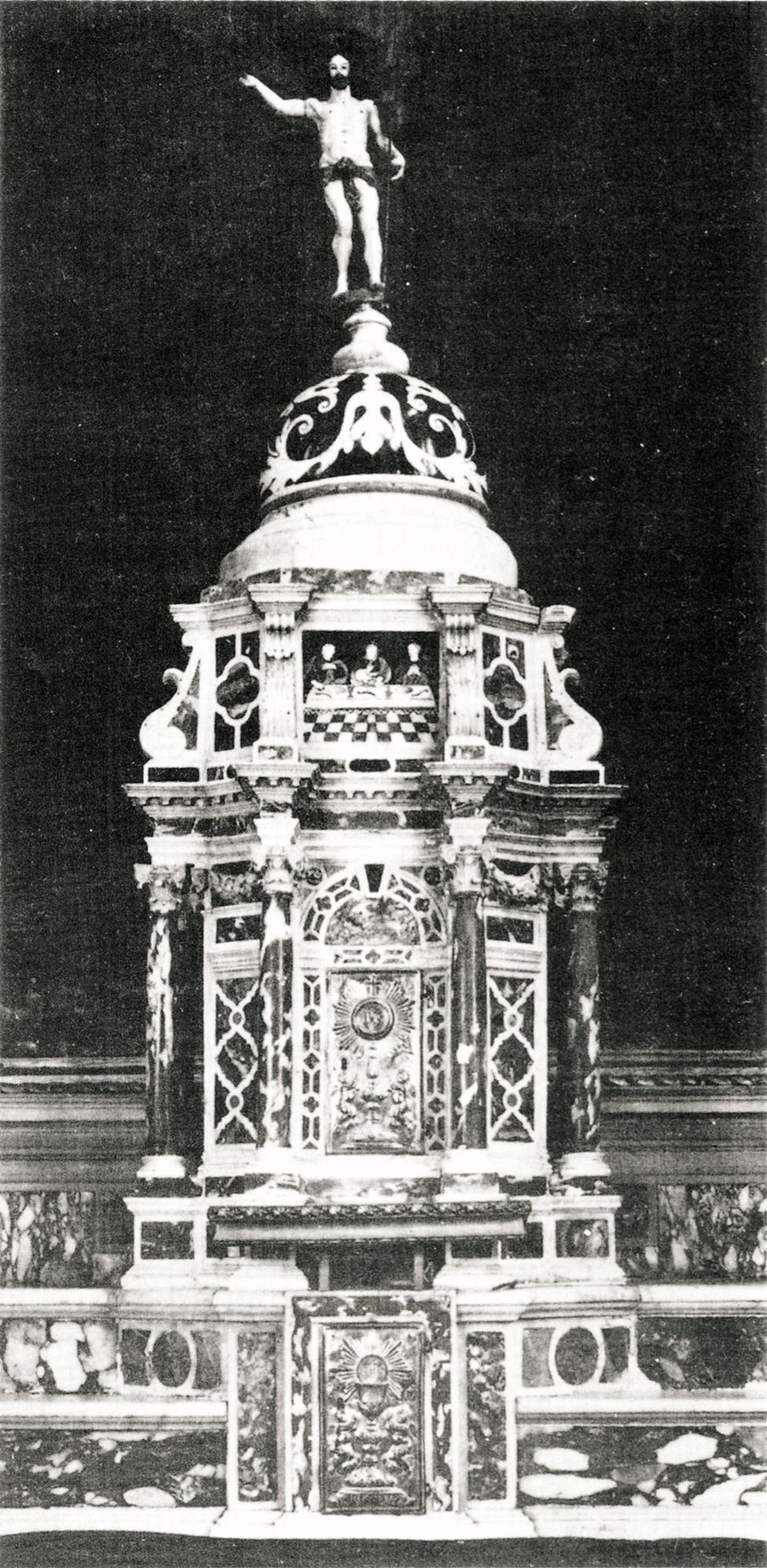 Tabernacolo dell'Altare maggiore della vecchia parrocchiale di Battaglia Terme,.