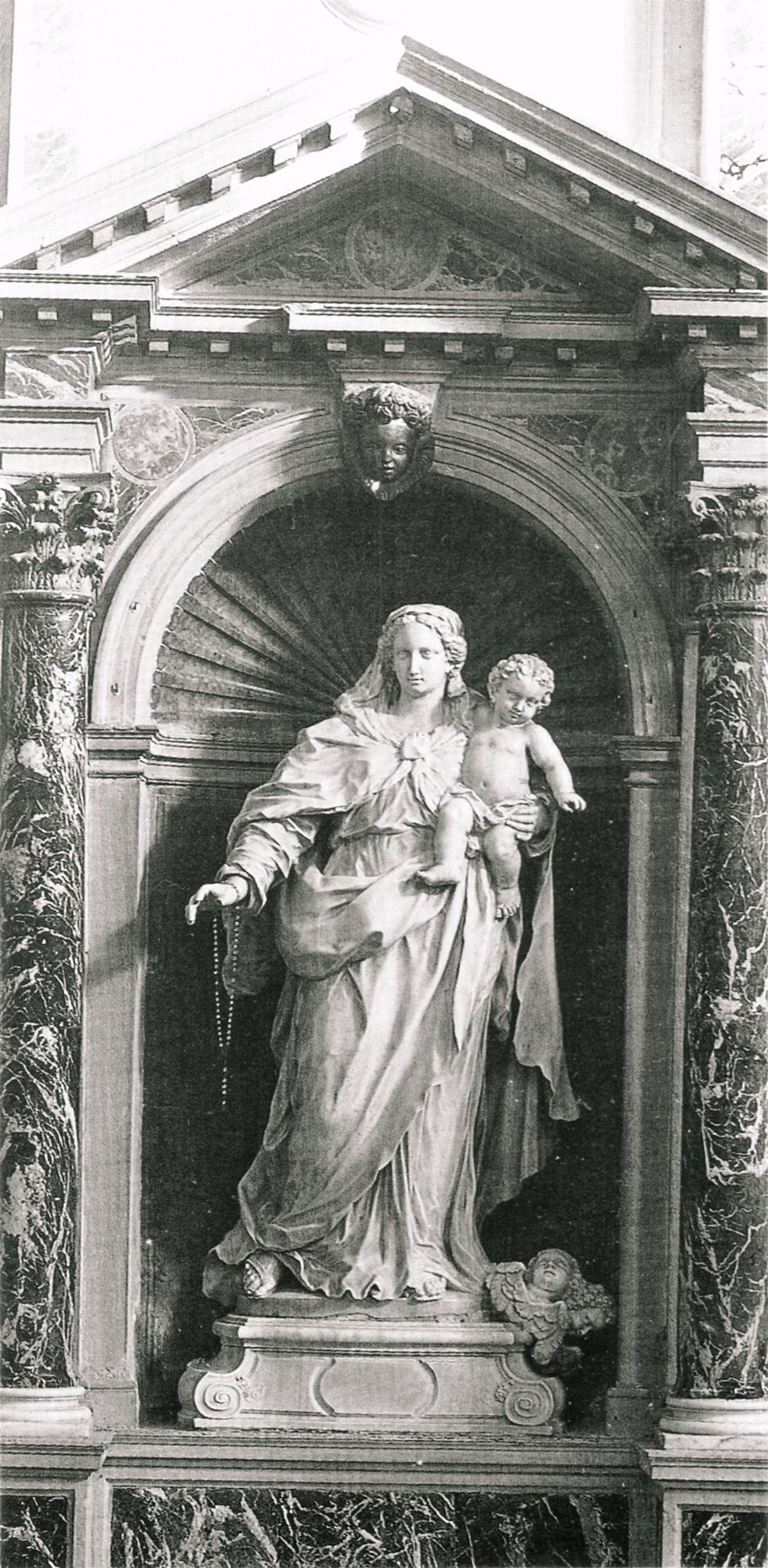 Giovanni Maria Morlaiter, Madonna con Bambino. Vecchia parrocchiale di Battaglia Terme.