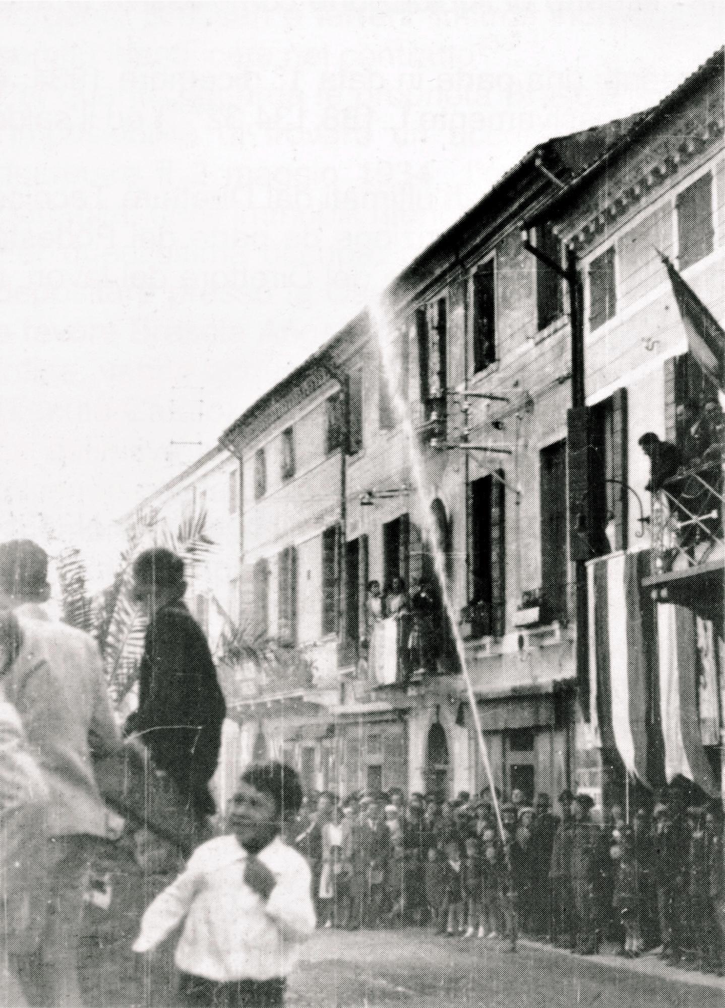L'inaugurazione dell'acquedotto comunale di Battaglia Terme (1935).