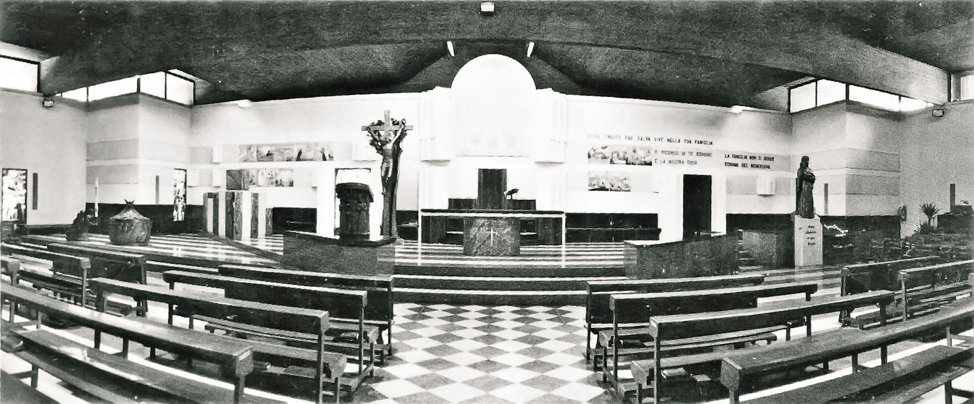 Interno della nuova Chiesa parrocchiale di Battaglia Terme.