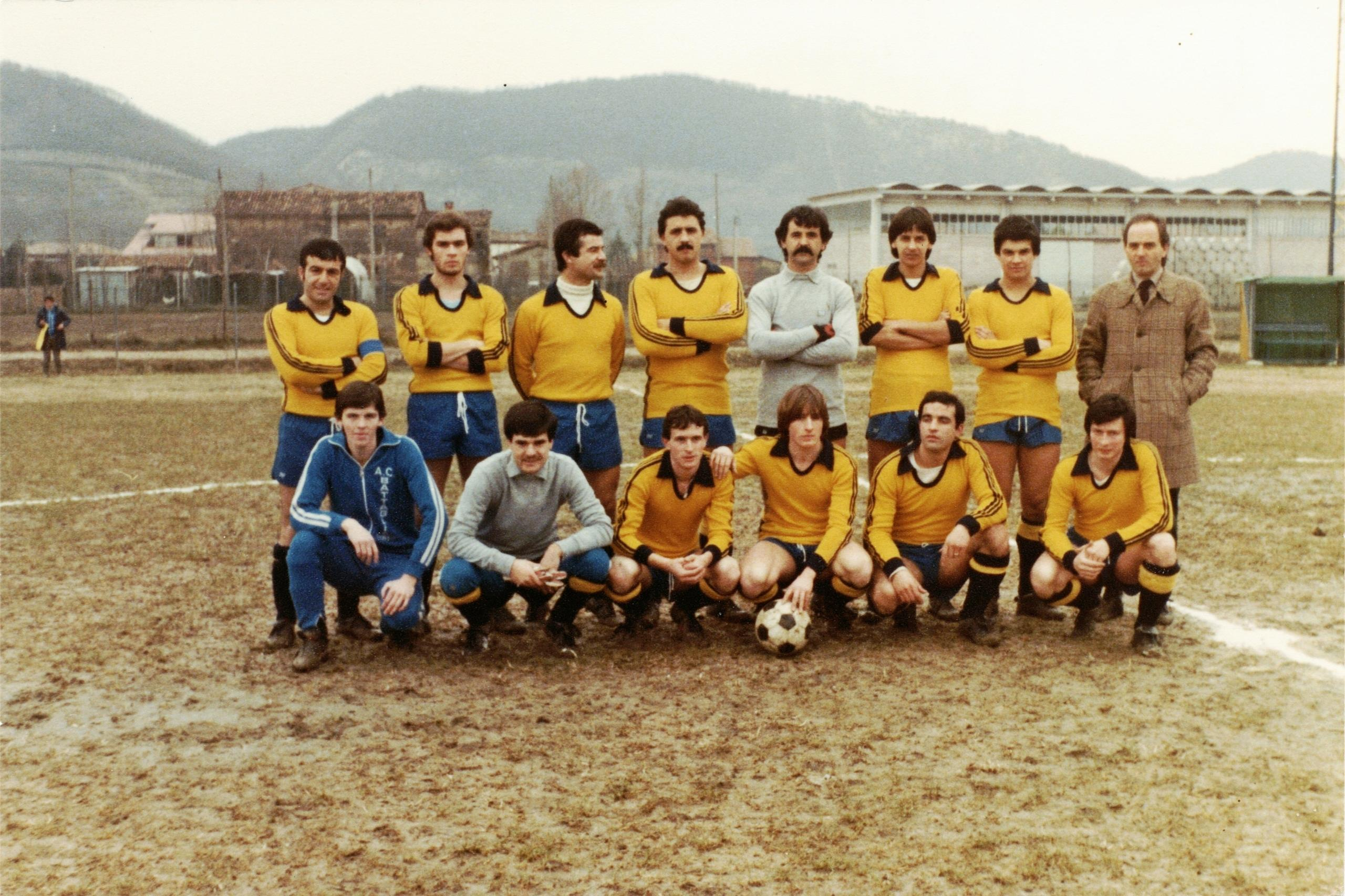 1979/80, la squadra del G.S. Galileo Battaglia Terme che ha preso parte al Campionato Italiano Dilettanti Veneto di II Categoria, Girone Q (1).