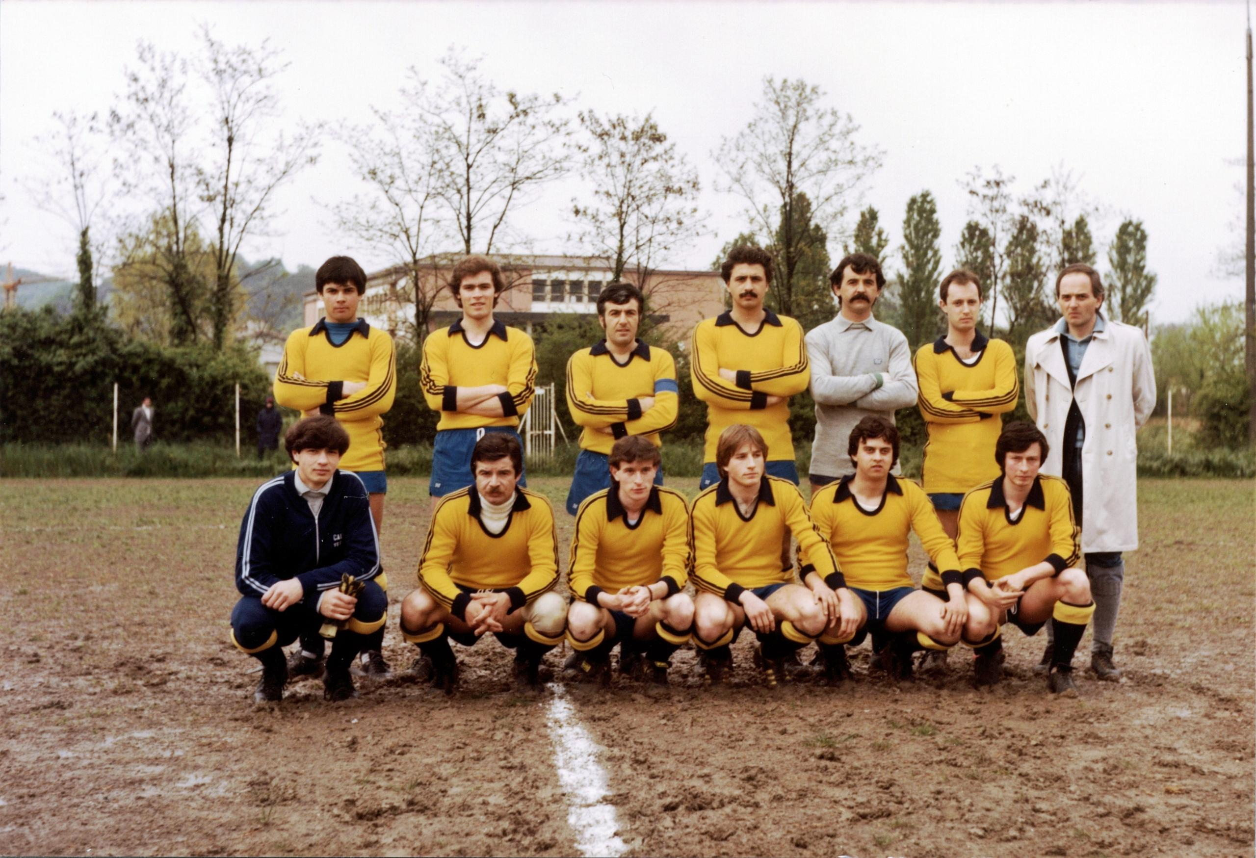 1979/80, la squadra del G.S. Galileo Battaglia Terme che ha preso parte al Campionato Italiano Dilettanti Veneto di II Categoria, Girone Q (2).